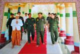 Photograph of the Generals of the Myanmar Junta on display at Soon U Ponya Shin Pagoda