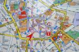Map of central Bochum (Zentrum)