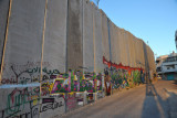 West Bank Separation Wall graffiti - late afternoon Bethlehem