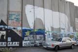 West Bank Separation Wall graffiti - Donkey