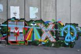 West Bank Separation Wall graffiti - Maxlo