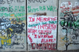 West Bank Separation Wall graffiti - In memory of ...