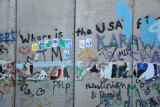 West Bank Separation Wall graffiti - Where is the USA