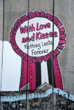 West Bank Separation Wall graffiti - With Love and Kisses, Nothing Lasts Forever
