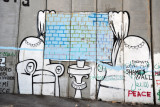 West Bank Separation Wall graffiti - Down with the shame's wall