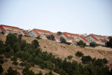 Israeli settlement of Keley Shir, part of Ma'ale Adumim, on a ridge above Highway 1 from the Dead Sea to Jerusalem