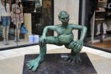 Sculpture displayed along the Mamilla Mall, Jerusalem