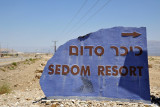 Turn right for the Sedom Resort