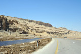Back on the Highway 90 heading north along the western shore of the Dead Sea