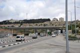 Israeli checkpoint on Highway 60 south of Jerusalem