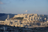 Har Homa-Homat Shmu'el, a substantial  Jewish settlement inside the West Bank 2 km from Bethlehem, established 1997