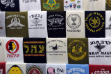 Shops selling Israeli military t-shirts are common in the touristy areas of the Christian  Quarter of the Old City