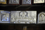 Silver Last Supper in a shop in the Christian Quarter, Jerusalem