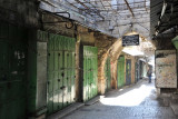 Early morning before the shops open, Bab al-Silsila Road, Muslim Quarter, Jerusalem