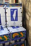 Boxes of Israeli produce - bananas