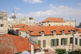 Red tile roofs of the Christian Quarter from the Old City Wall