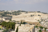 Mount of Olives seen from the walls of the Jewish Quarter, Old City of Jerusalem