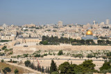 View of Temple Mount and the Old City of Jerusalem from the Rehav'am Lookout, Mount of Olives