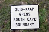South Cape Boundary - Suid-Kaap Grens