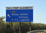 Exit for Port Elizabeth Airport