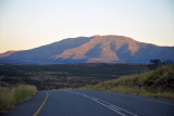 Early morning sun on a mountain from Route 63