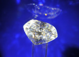 Diamond replica, The Big Hole Exhibition Centre, Kimberley - the real ones are displayed in a vault