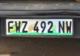 License plate of the North West Province, South Africa