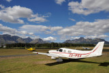 Piper Cherokee 6 (ZS-PSX) at Stellenbosch Airport