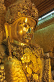 An ancient sculpture, the Mahamuni Buddha dates from the 1st C. AD