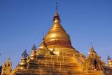 The main stupa (zedi) of Kuthodaw Paya, modeled after the Shwezigon Pagoda in Bagan