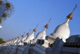 Some of the 729 stupas housing the marble slabs of the Tripitaka, Mandalay