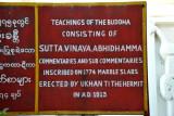 The Teachings of the Buddha consist of Sutta, Vinaya, Abhidhamma commentaries