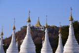 Mandalay Hill rising behind Sandamani Paya