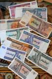 Myanmar Kyat (pronounced chat) banknotes