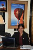 Balloons Over Bagan booking office at Thiripyitsaya Sanctuary Hotel