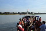 Malikha ferry arriving at Bagan around 10 hours after departing Mandalay
