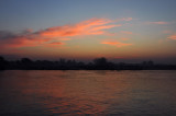 Dawn over the Irrawaddy River as we sail away from Mandalay