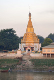 Golden pagoda catching the suns first rays