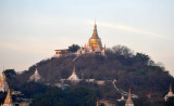 Pagoda on the top of one of the hills in Sagaing