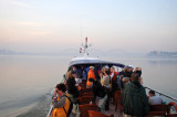 Passengers of the Malikha Ferry on deck as we pass Sagaing