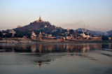 Sagaing on the west bank of the Irrawaddy River