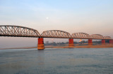 The old Ava Bridge, just downstream of the new Sagaing Bridge