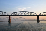 The old and new bridges across the Irrawaddy River linking Inwa and Sagaing