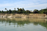 Sand cliffs on the banks of the Irrawaddy River