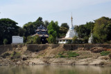 Temple and stupa along the Irrawaddy River