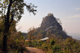 Popa Taung Kalat Monastery sits on top of this prominent spire, Pedestal Hill