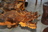 Beautifully carved table, Popa Mountain Resort