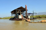 Pumping station near the mouth of the Nan Chaung Canal