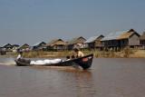 Cargo boat with sacks of grain, Nan Chaung Canal, Nyaung Shwe