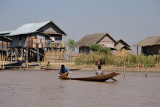 Small boat typical of Inle Lake